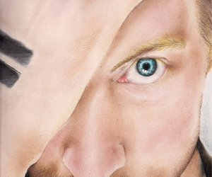 beautiful, blue eyes, and Chris Martin image