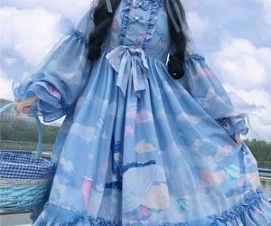 frock, girly, and kawai dress image