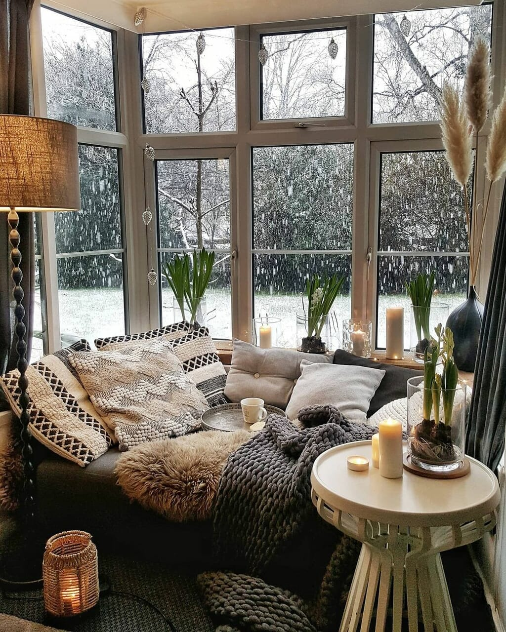 home, plants, and candles image