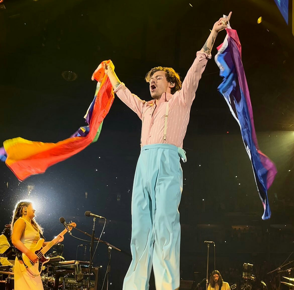 flag, lgbt, and Harry Styles image
