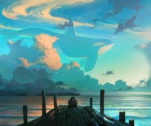 art, digital painting, and digital artwork image