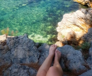 blue, july, and rocks image