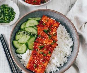 bowl, cucumber, and vegan image
