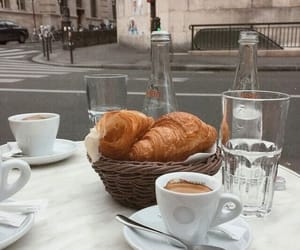 coffee, yummy, and croissant image