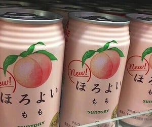 aesthetic, drink, and peach image