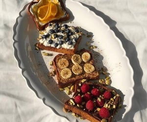 bread, fruit, and breakfast image