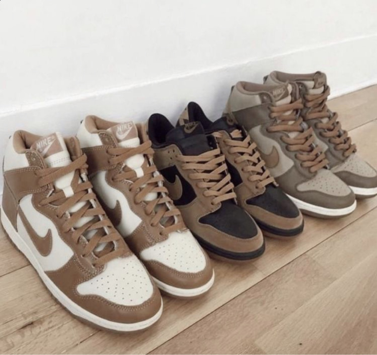 shoes, brown, and nike image