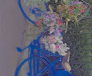 aesthetic, bike, and blue image