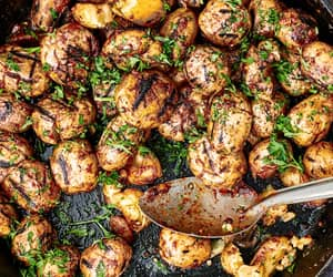 garlic, parsley, and grilled potato image