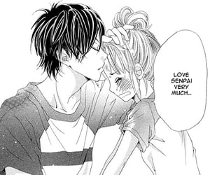 cute couple, manga girl, and love image