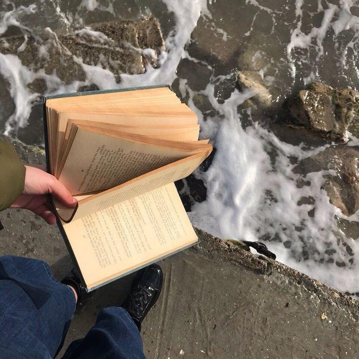 book and sea image