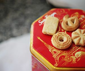 biscuits, food, and red image