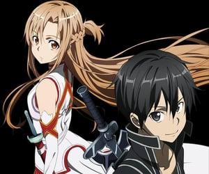 anime, kirito kirigaya, and asuna image