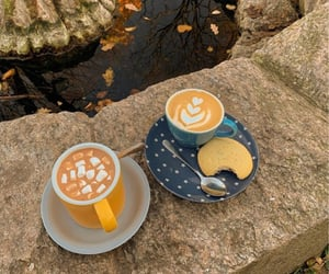 autumn, Cookies, and hot cocoa image