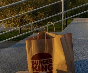 burger, coke, and food image