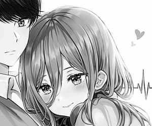 aesthetic, anime, and b&w image