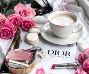 coffee, dior, and lipgloss image