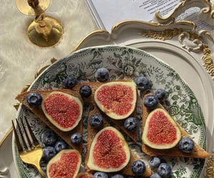 berry, bread, and fig image