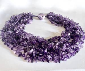 etsy, toggle clasp, and purple amethyst image