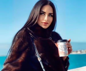 breakfast, brunette, and coffee image