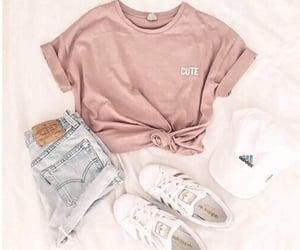 adidas, denim, and hat image