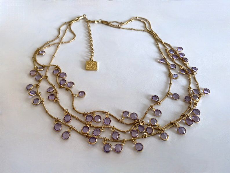 etsy, vintage jewelry, and collar necklace image