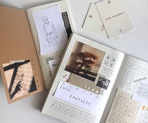 desk, stationery, and journal image