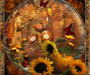 autumn, butterflies, and gif image