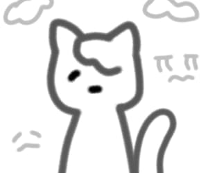 cat, doodles, and drawing image