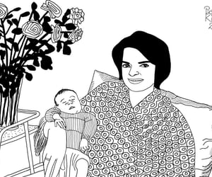 baby, caricatura, and caricature image