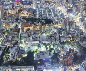 aerial photography, night, and toyko image