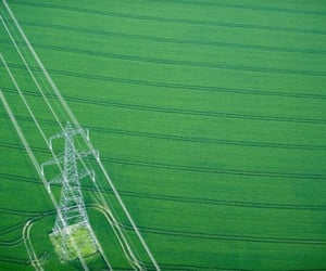 aerial photography, aerial view, and fields image