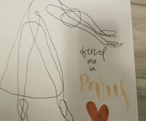 hand lettering, one line drawing, and ballerina image