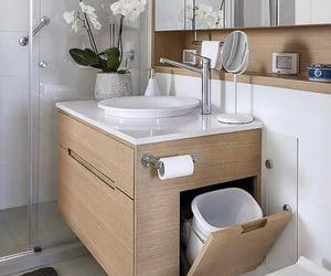 bathroom, bois, and house image