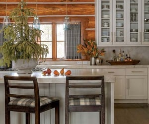 cabin, decor, and kitchen image