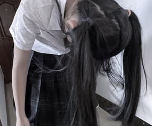 faceless, girl, and ponytails image