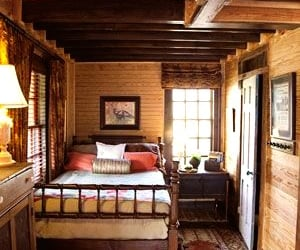 bedroom, rustic, and cabin image