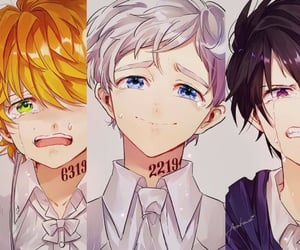 ray, the promised neverland, and anime boys image