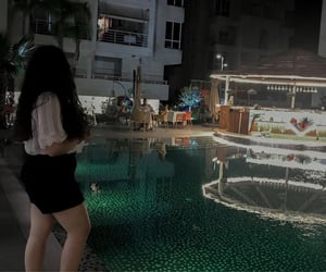 girl, night, and summer image