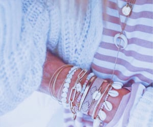 blue, clothes, and jewerly image