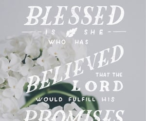 believe, blessed, and bible verse image
