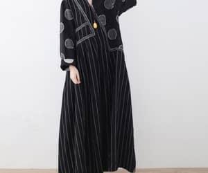 prom dresses, long linen dress, and black maxi dress image
