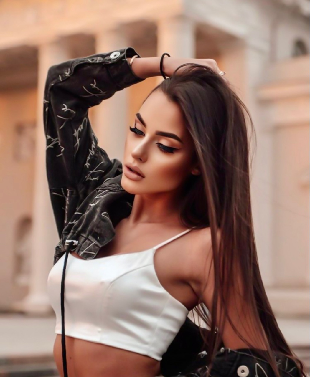 brown, fashion, and hair image