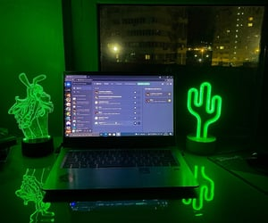 aesthetic, cyber, and green image