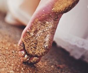glitters, golden, and glitter image