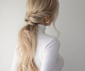 hair, hairstyle, and outfit image