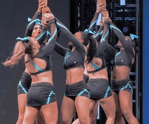 cheer, sparkle, and uniform image