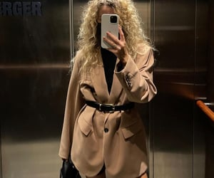 chic, curly, and fashion image