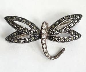 etsy, bug brooch, and sterling marcasite image