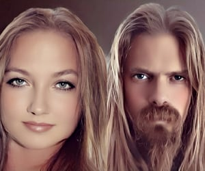 awesome, couple, and guitarist image
